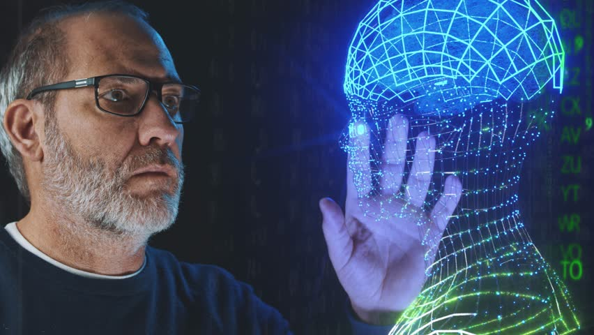 Ai Artificial intelligence brain concept | Shutterstock HD Video #1022740519