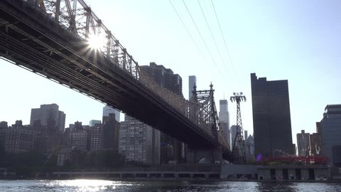 NEW YORK CITY, NEW YORK - AUGUST 19: Queensboro Bridge in downtown New York, New York on August 19, 2017.