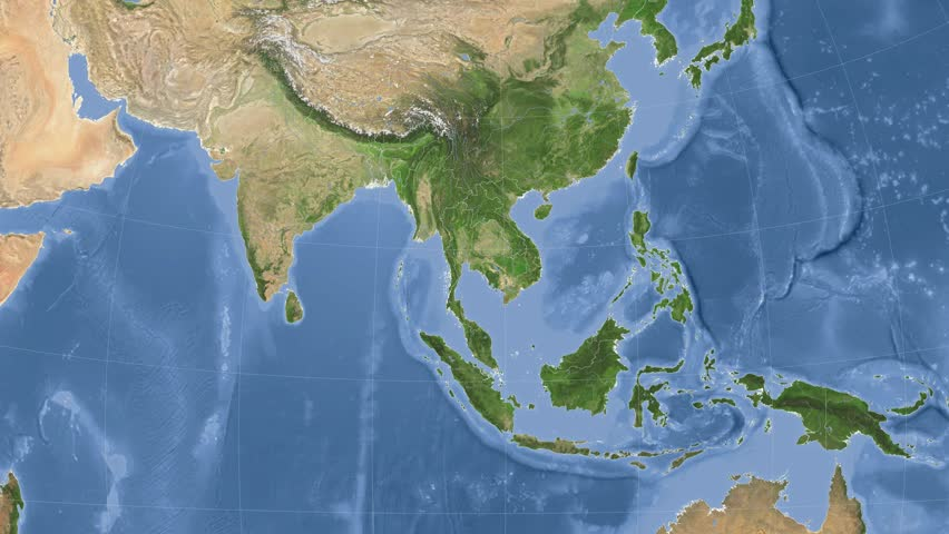 Thailand On the Satellite Map Stock Footage Video (100% Royalty-free)  10228949 | Shutterstock