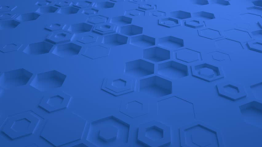 Blue Abstract Hexagon Geometric Surface Seamless Loop 4K UHD. Front View   Shutterstock HD Video #1023050449