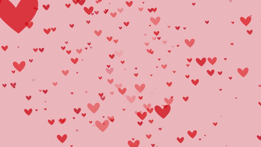Pink backgounds with hearts 4k video.   Shutterstock HD Video #1023094069