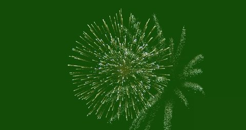 fireworks with green screen