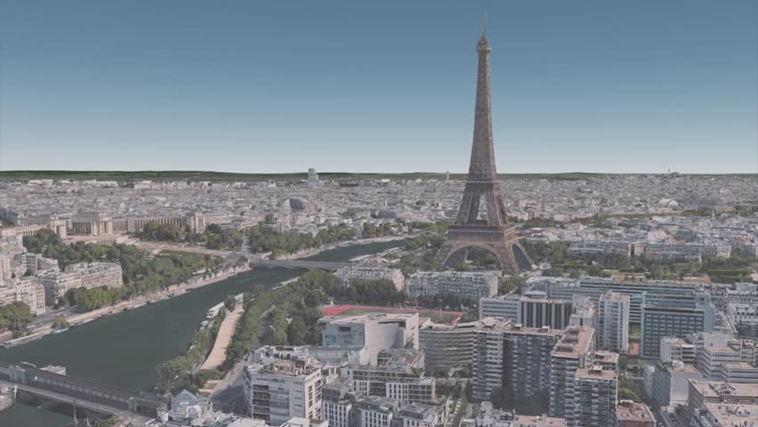Architecture in the vicinity of the Eiffel tower in the center of Paris | Shutterstock HD Video #1023224659