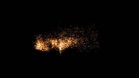 Orange motion abstract of particles,explosion dust particles
