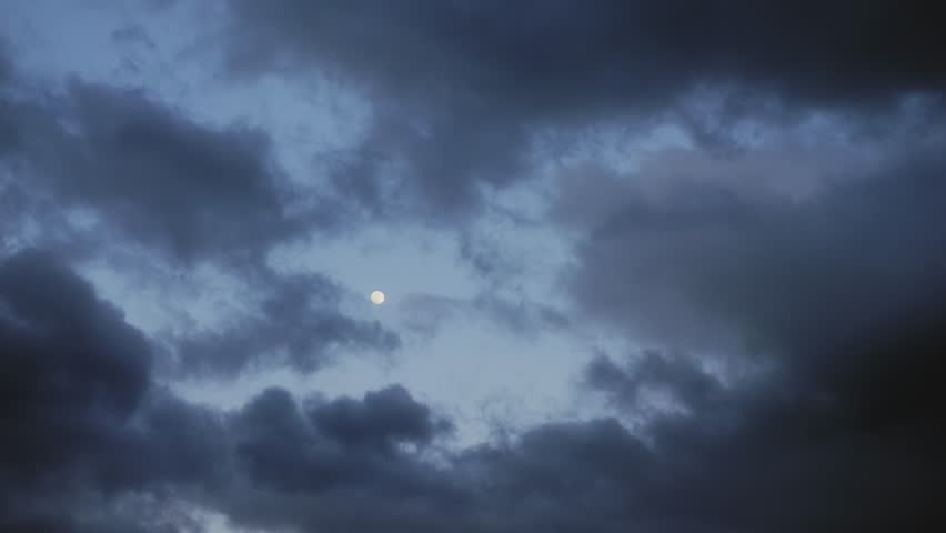 Moon in the clouds timelapse #1023294889