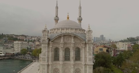 Istanbul Ortakoy Mosque Top View