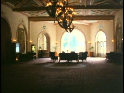 BANFF NATIONAL PARK, ALBERTA, 1990, Chateau Lake Louise Hotel, lobby