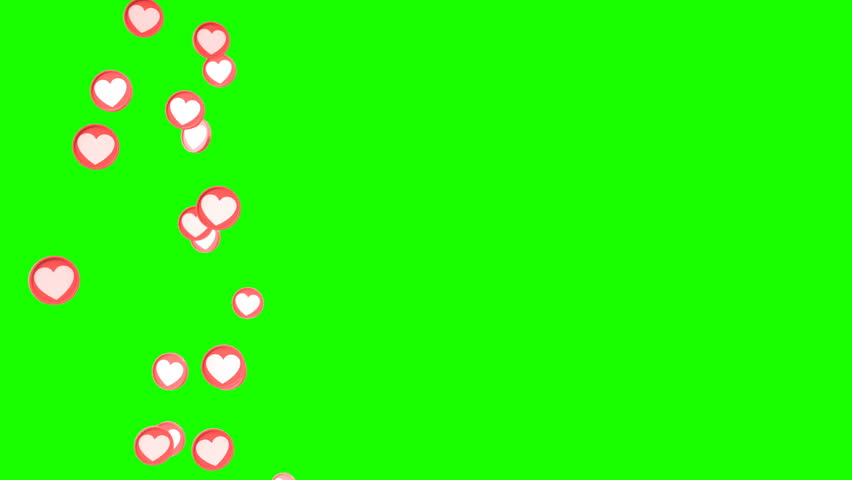 Social love heart icon looped animations can be used to make a Declaration of love on Valentine's Day #1023409399
