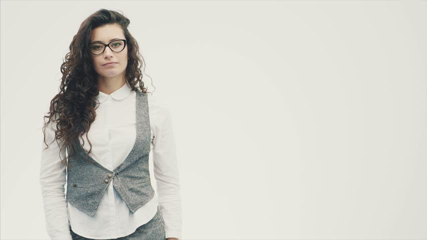 Portrait of a Beautiful Brunette Stock Footage Video (100% Royalty-free)  1023457999 | Shutterstock