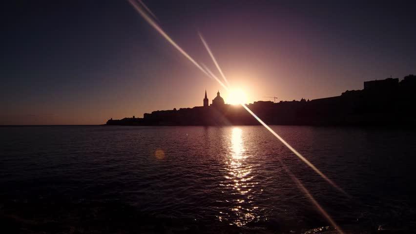 MALTA VALLETTA SUNRISE, SUNSET - timelapse | Shutterstock HD Video #1023603439