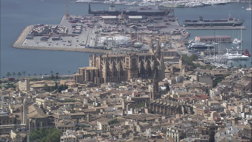 AERIAL Spain-Palma Cathedral 2007 | Shutterstock HD Video #10237169