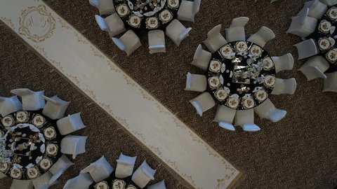 Wedding Hall Design Aerial Video