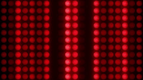 Red led wall lights vj loop.Led lights motion animation.Disco club flashlights.Floodlights