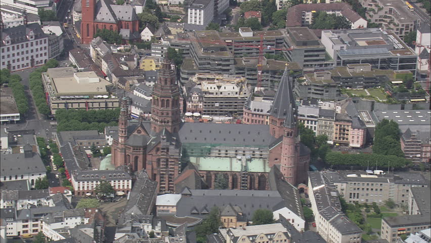 AERIAL Germany-Mainz Cathedral 2007: Mainz cathedral