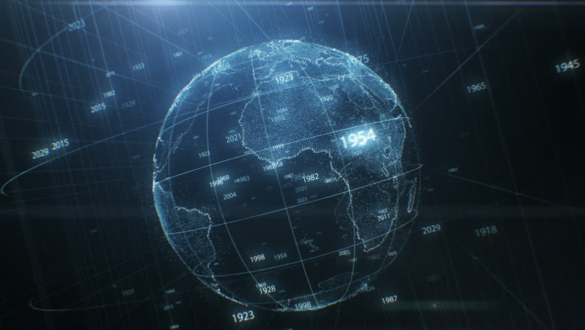 Earth Hologram Spinning Seamless with Stock Footage Video (100%  Royalty-free) 1024013609 | Shutterstock