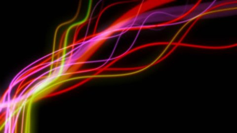 4K Abstract Light Streaks. 3D CGI animation with copy space.