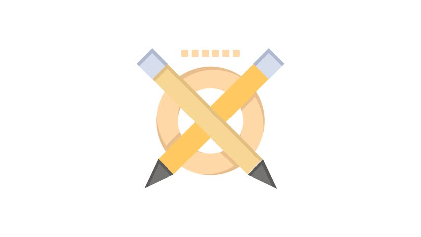 Pencil, Education, Pen Line Icon Motion Graphic Animation | Shutterstock HD Video #1024089929