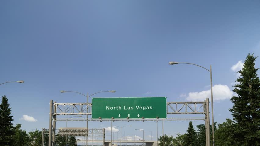 Airplane Landing North Las Vegas | Shutterstock HD Video #1024167539