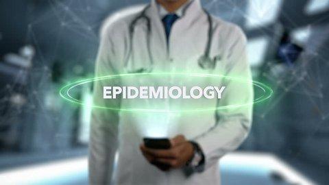 Male Doctor Hologram Medical Branch - Epidemiology