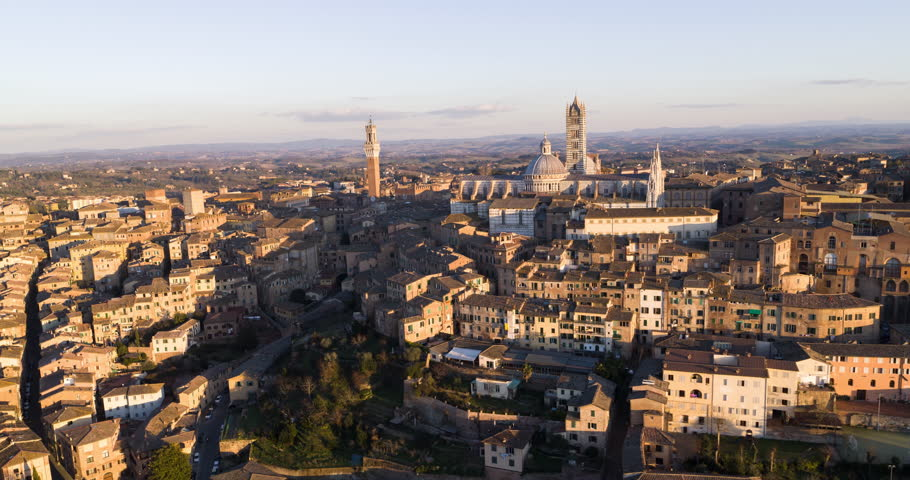 Siena at Dusk - Aerial | Shutterstock HD Video #1024265069
