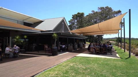 JANUARY 12,2019: Video of Wills Domain restaurant in Margaret River, Western Australia.