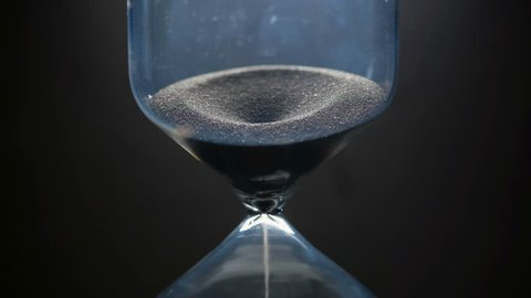 Hourglass. Close up. Zoom in.