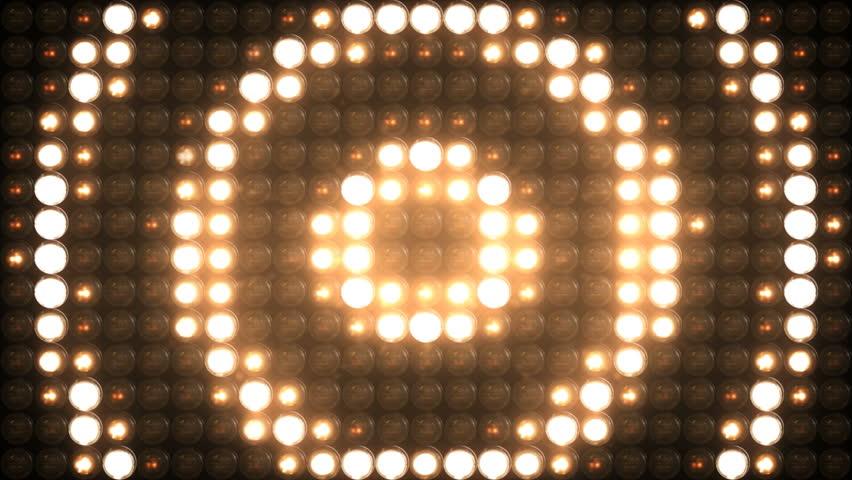Lights Flashing Board Circle 4K VJ Stage Blinking Lights Blinder Flashlights Disco Lights Floodlight Loop   Shutterstock HD Video #1024277909