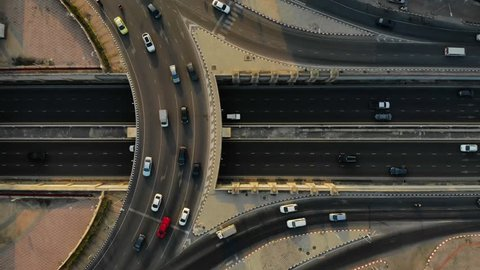 Expressway top view, Road traffic an important infrastructure, Circle rama 5 Road Free of charge