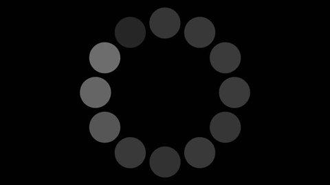 4K Loading Pending circle icon background animation sign icon business symbols sign icon amazing set business icon technology Flat Style Animated Shapes Elements Loading screen Loading Process amazing