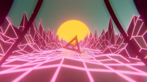 80's, neon style loop clip. Ideal for VJ, music related projects or as a cool loop background. High quality render and animation. Feel free to check my portfolio for more.