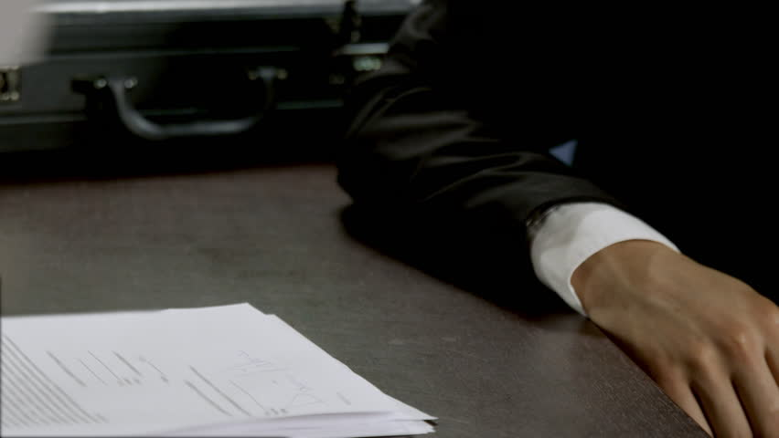 Business concept. Paperwork and man hands close up isolated. Busy lawyer working in office, signature the agreement and application form on the table from partners. Success official leader of company | Shutterstock HD Video #1024463129
