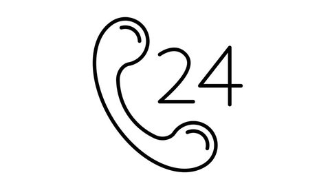 line icon animation 24 service
