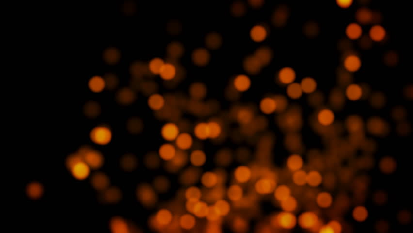 glowing blurry lights background - swarm of golden orange lights and particles - seamless looping (4K) #1024472849
