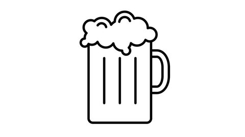 line icon animation beer
