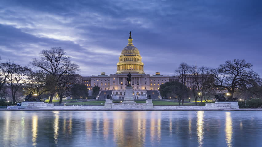 Landscape of the congress building in Washington DC image ...