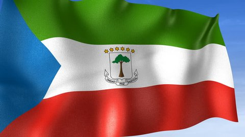 Equatorial Guinea Flag - Set of 3 Angles with Masks [3WaveSeries]