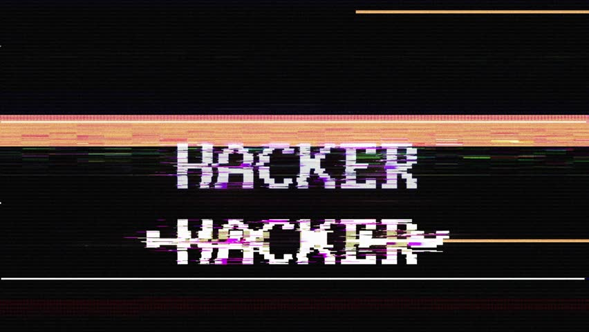 HACKER Glitch Text Animation, Rendering, Background, with Alpha Channel, Loop, 4k  | Shutterstock HD Video #1024666349