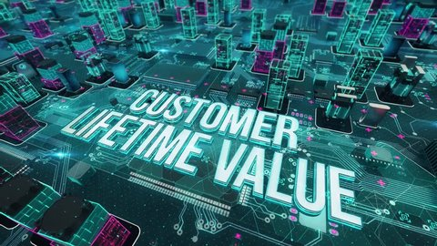 Customer Lifetime Value with digital technology concept