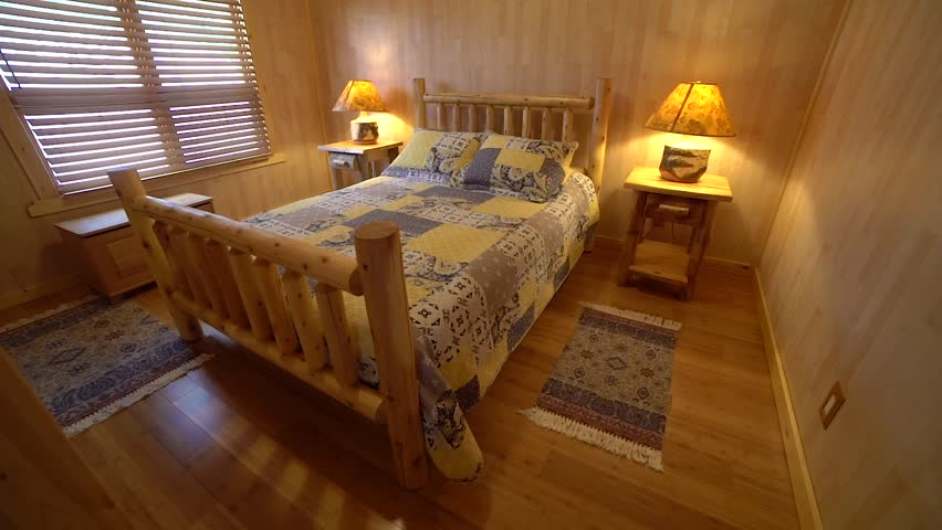 Luxury Bedroom in a Log Stock Footage Video (100% Royalty-free) 1024693049    Shutterstock