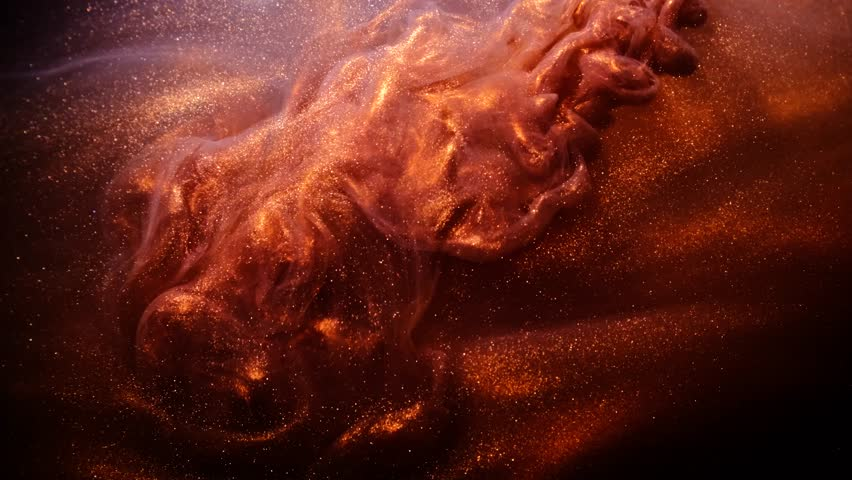 Abstract bronze paint . Shooting on a black background. | Shutterstock HD Video #1024844909