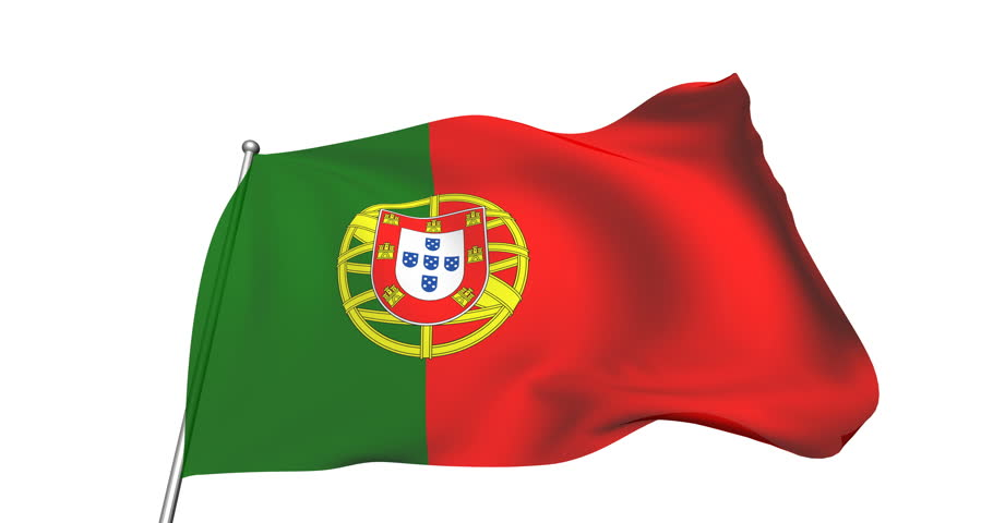 Flag of Portugal with Fabric Stock Footage Video (100% Royalty-free)  1024867919 | Shutterstock
