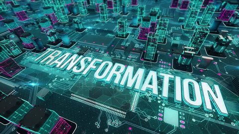 Transformation with digital technology concept