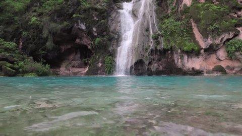 Ain Kor waterfalls in Salalah
