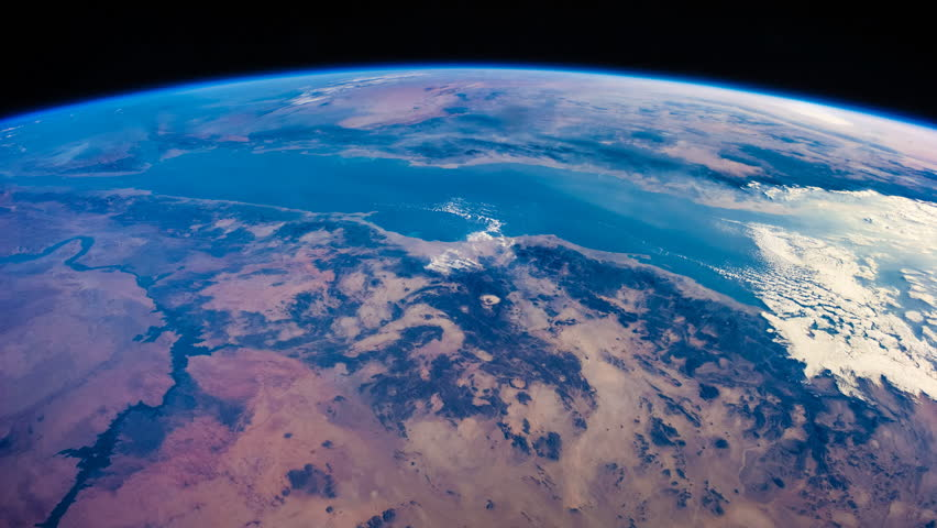 Time lapse of earth revolving viewing from NASA International Space Station (ISS) - images courtesy of NASA. | Shutterstock HD Video #1025327219