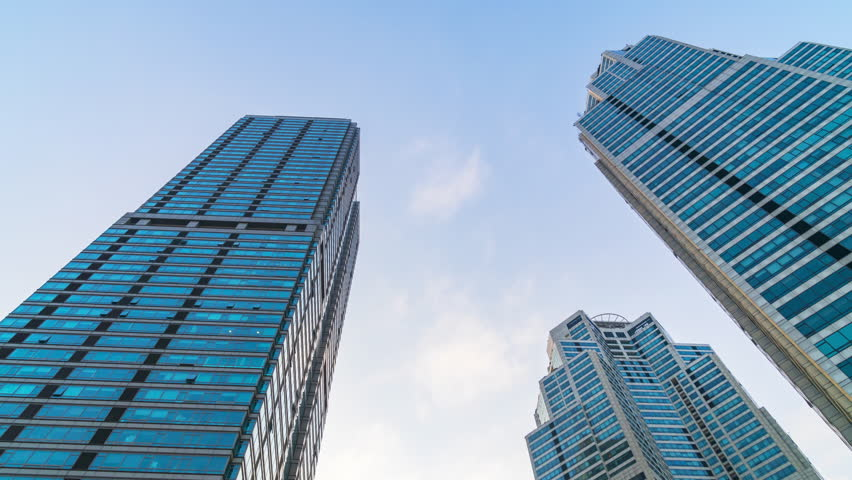 Corporate buildings,Gangnam City in Seoul,Korea.Timelapse #1025330639