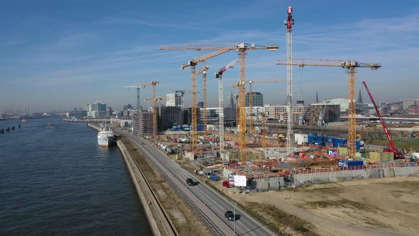 Building site in Hamburg-Hafencity | Shutterstock HD Video #1025646509