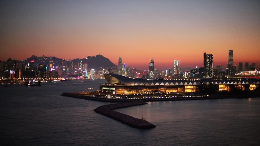 Kwun tong view of hong kong city | Shutterstock HD Video #1025674109