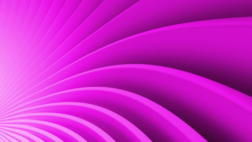 Purple 3d render abstract background with bended into spiral geometry. Simple geometry composition. Loopable animation. | Shutterstock HD Video #1025838419