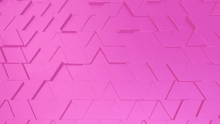 Abstract triangle pink background with reflection. Geometrick modern video in pink color | Shutterstock HD Video #1026017129