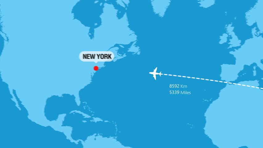 Doha to New York Flight Travel Route